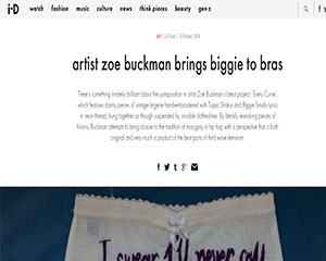 iD Magazine interviews Zoe Buckman about her art and photography.