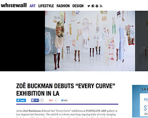 Whitewall Magazine announces Zoe Buckman's exhibition Every Curve