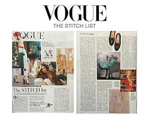 Vogue spread on embroidery artist Zoe Buckman
