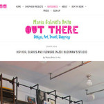 Inside Zoe Buckman's Art Studio with Out There NYC blog.