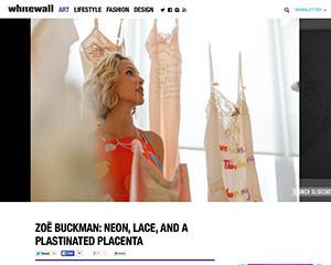 Whitewall Mag talks contemporary feminine art with Zoe Buckman.