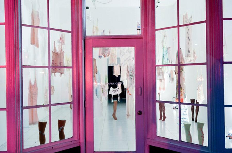 Zoe Buckman's Every Curve Installation at Papillion Art LA