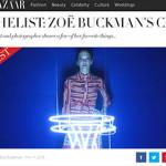 Harper's Bazaar The List with artist Zoe Buckman