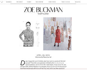 NeueHouse's blog NeueJournal does an interview with feminist artist Zoe Buckman
