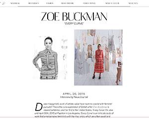 NeueHouse's blog NeueJournal does an interview with feminist artist Zoe Buckman