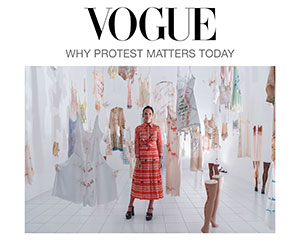 Zoe Buckman writes an article about being an artist and political protest for British Vogue