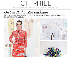 Citiphile talks to feminist artist Zoe Buckman about her art and New York