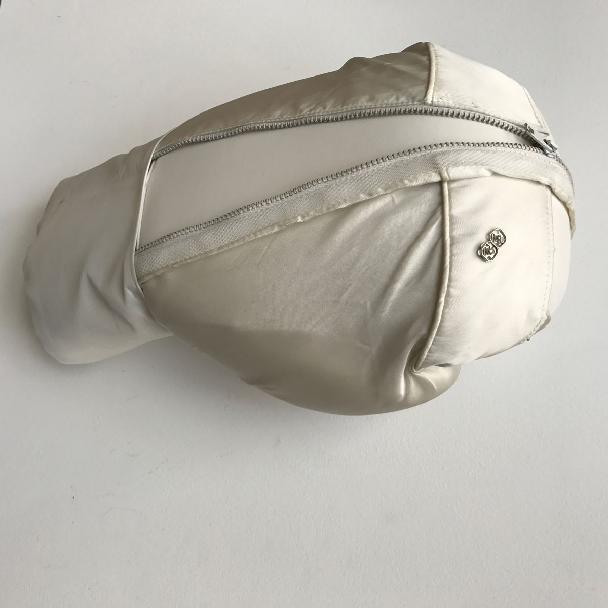 Boxing glove sculpture with wedding dress details by Zoe Buckman