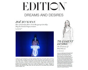 Zoe Buckman in Edition Hotels magazine