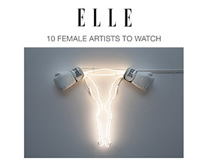 Zoe Buckman makes Elle's 10 Female Artists to Watch list