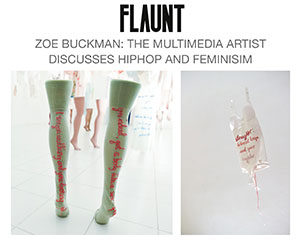 Flaunt Magazine highlights multimedia and feminist artist Zoe Buckman