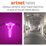 Zoe Buckman's Champ sculpture in Projects at Pulse Art Fair in Miami Beach