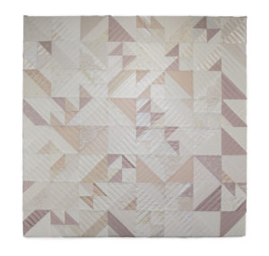 Wedding dress quilt from Zoe Buckman's Let Her Rave series