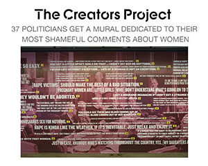 The Creators Project looks at Zoe Buckman's mural about politics and women