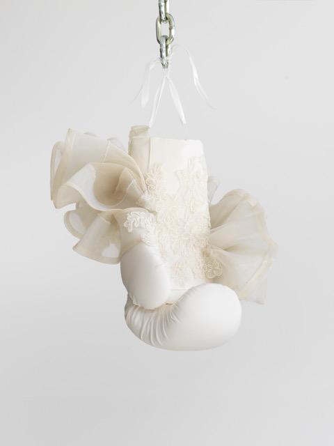 Zoe Buckman White Boxing Glove Ruffle