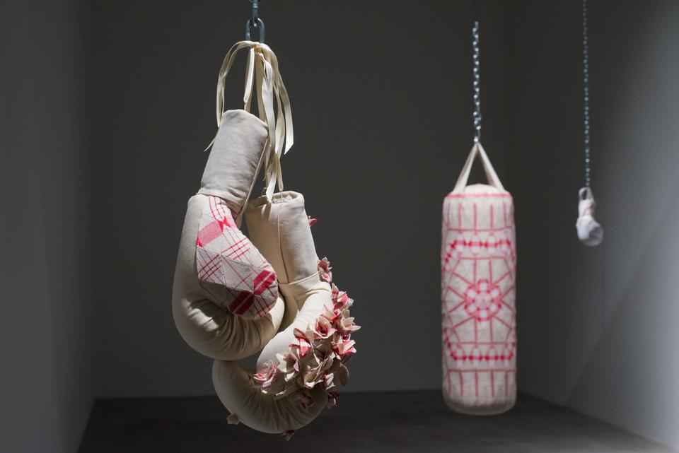Zoe Buckman Feminist Art Boxing Gloves