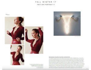 The Editorialist features Zoe Buckman in their Art Portrait Fall Winter 17