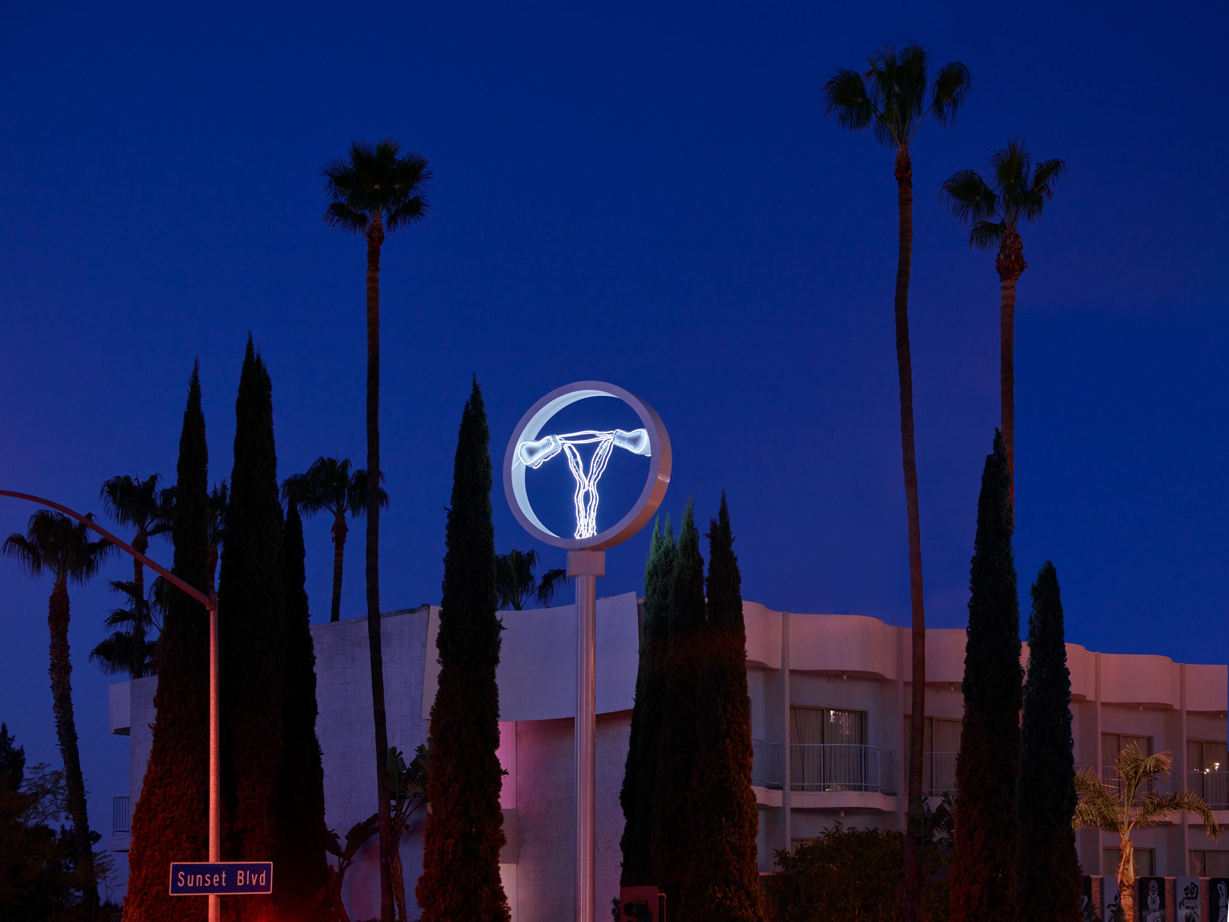 CHAMP Over the Standard Hotel on Sunset Boulevard